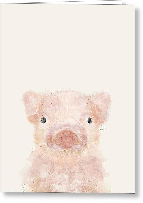 Little Pig Greeting Card by Bri B