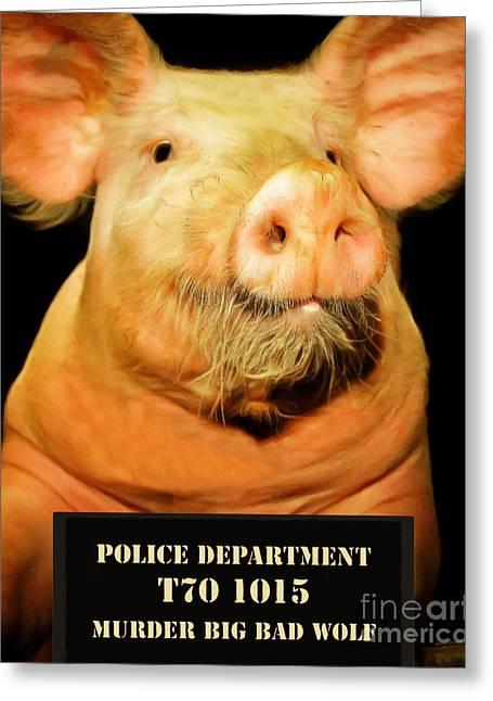 Little Pig Number Two Mugshot 20170921 Greeting Card