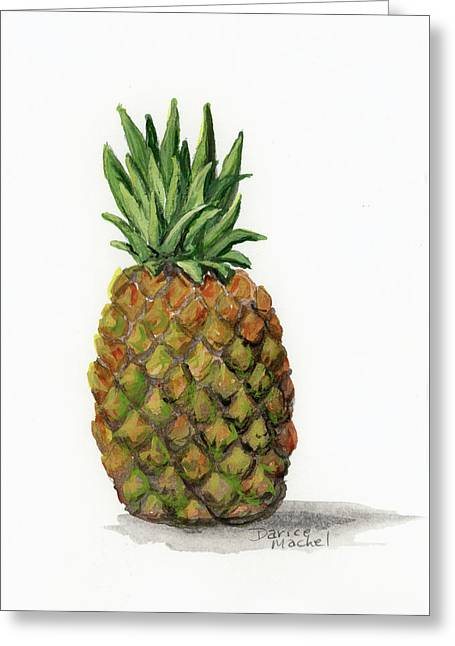 Greeting Card featuring the painting Little Pineapple by Darice Machel McGuire