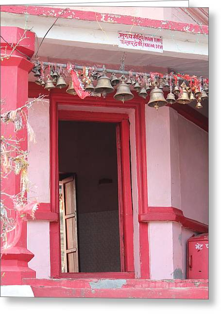 Little Pink Temple Up Close, Almora Greeting Card
