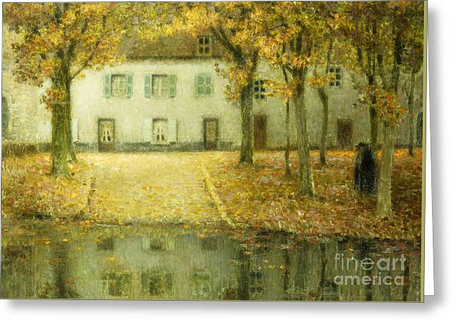 Little Place On The Banks Of The Eau At Chartres Greeting Card