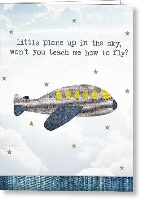 Little Plane Greeting Card by Samuel Whitton