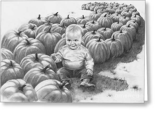 Little Pumpkin Greeting Card by Murphy Elliott