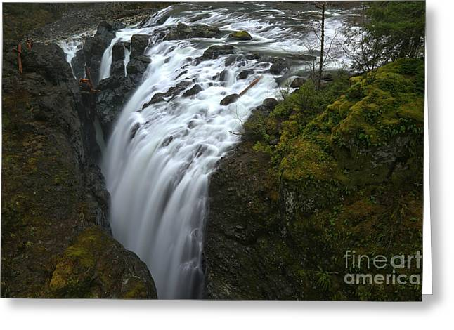 Little Qualicum Lower Falls Landscape Greeting Card
