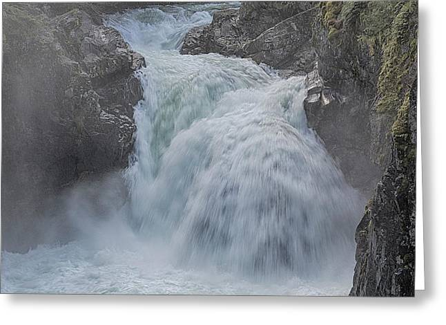 Greeting Card featuring the photograph Little Qualicum Upper Falls by Randy Hall