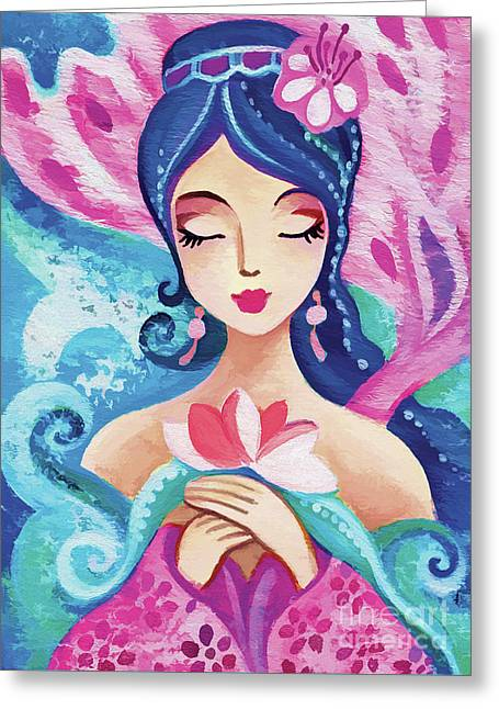 Little Quan Yin Mermaid Greeting Card
