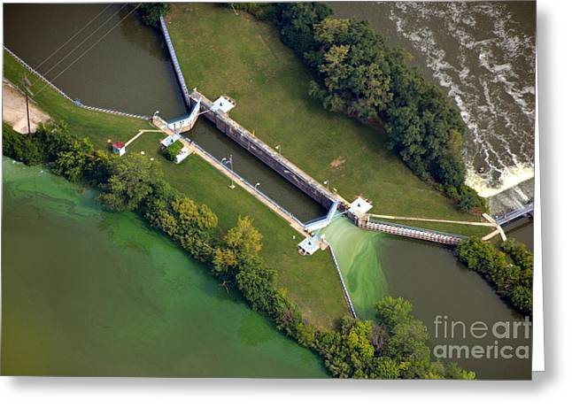 Little Rapids Lock Greeting Card by Bill Lang
