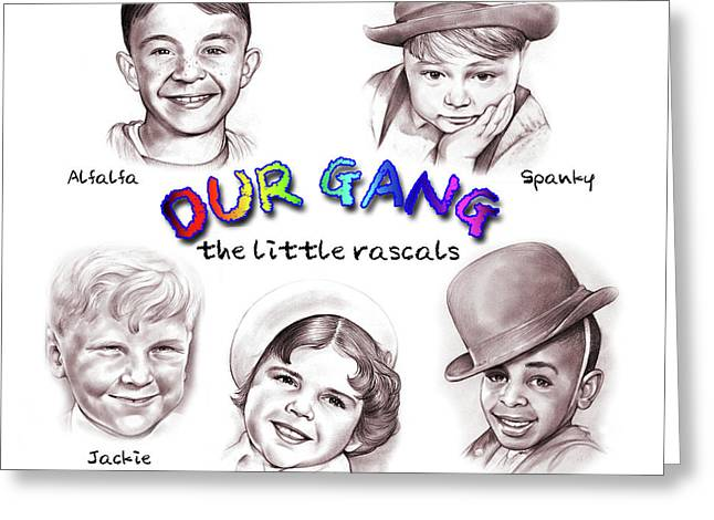 Little Rascals Greeting Card