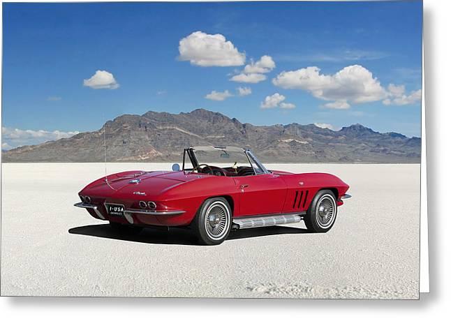 Little Red Corvette Greeting Card