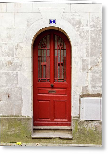 Greeting Card featuring the photograph Little Red Door by Melanie Alexandra Price