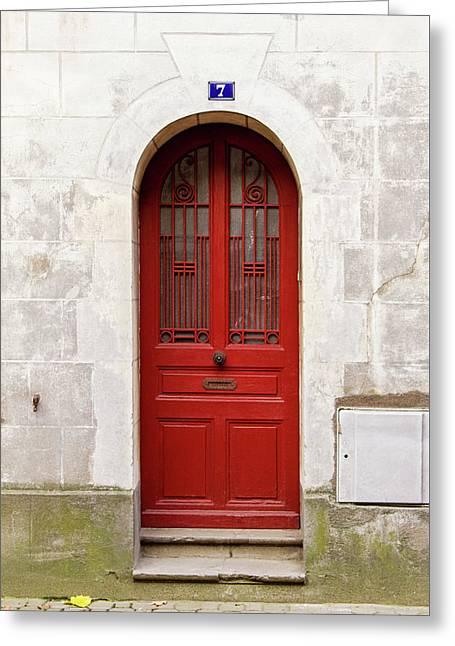 Little Red Door Greeting Card by Melanie Alexandra Price