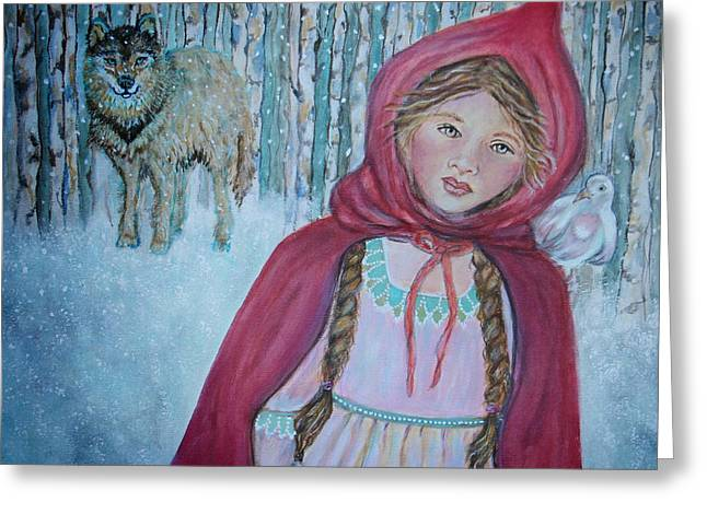 Little Red Riding Hood Greeting Card by The Art With A Heart By Charlotte Phillips