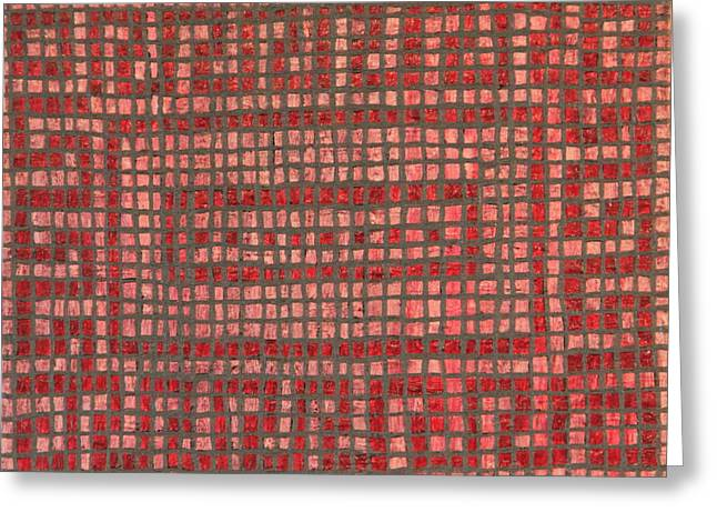 Little Red Tiles Greeting Card by Tracy Fetter