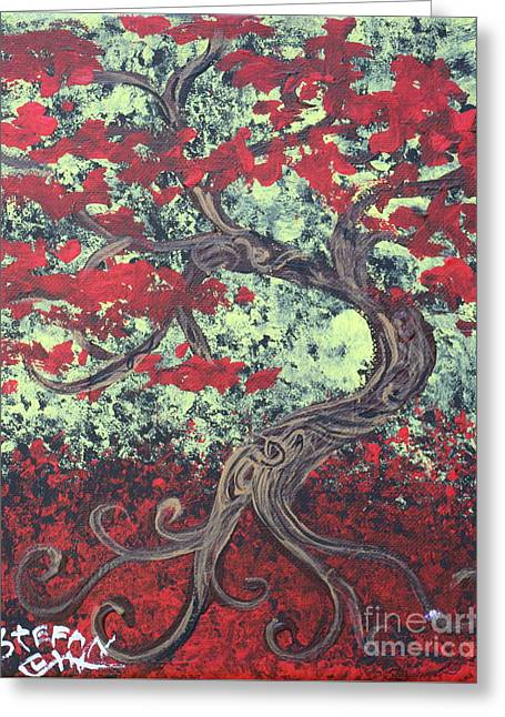 Little Red Tree Series 3 Greeting Card