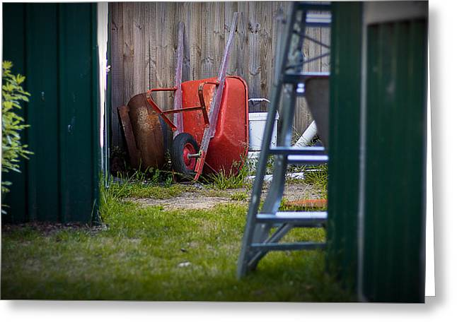 Greeting Card featuring the photograph Little Red Wagon by Tim Nichols