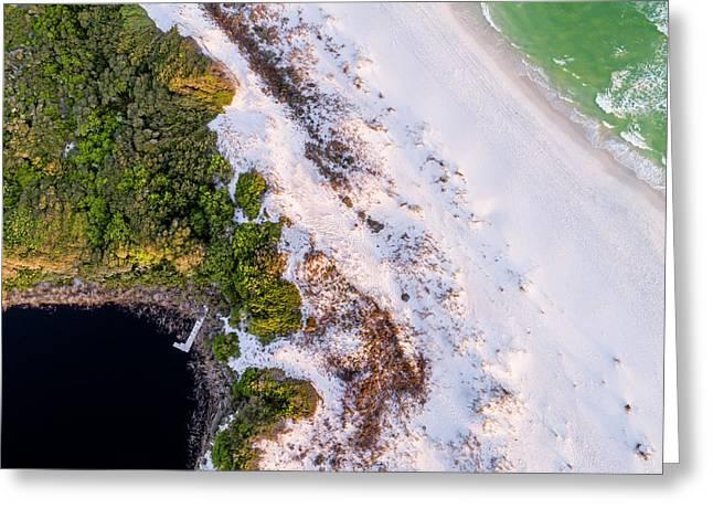 Little Redfish Lake Nestles The Gulf Greeting Card