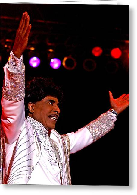 Little Richard Greeting Card by Bob Guthridge