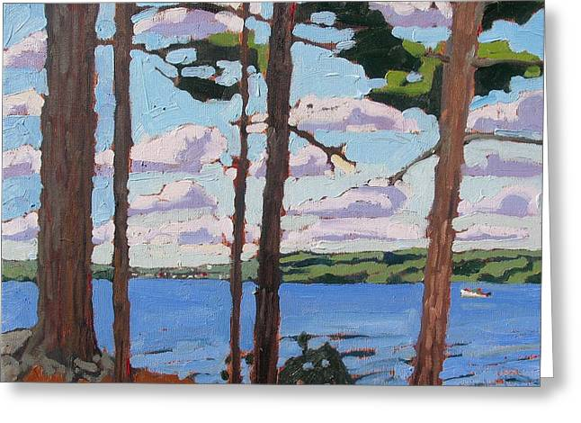 Little Rideau Lake Greeting Card by Phil Chadwick