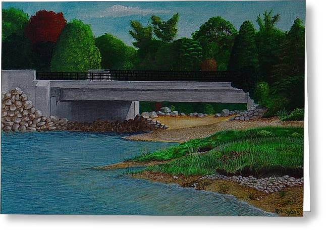 Little River Bridge Greeting Card by Ron Sylvia