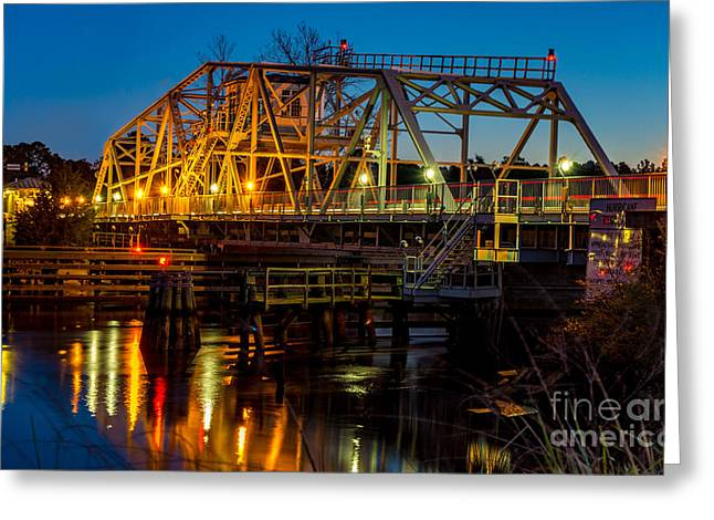 Little River Swing Bridge Greeting Card