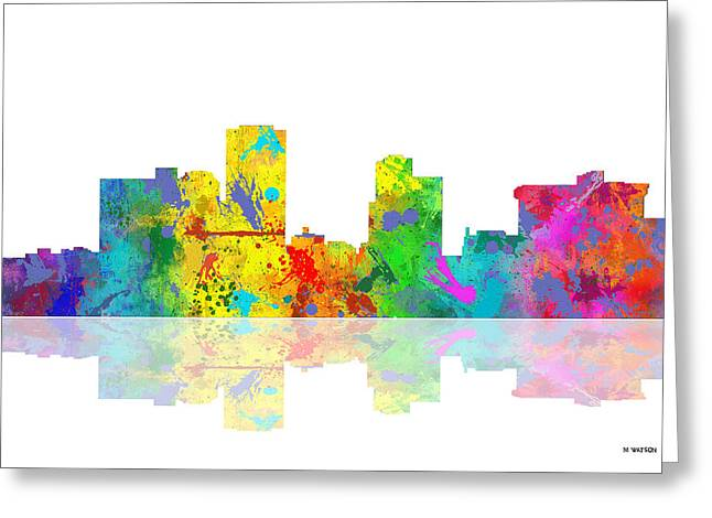 Little Rock Arkansas Skyline Greeting Card