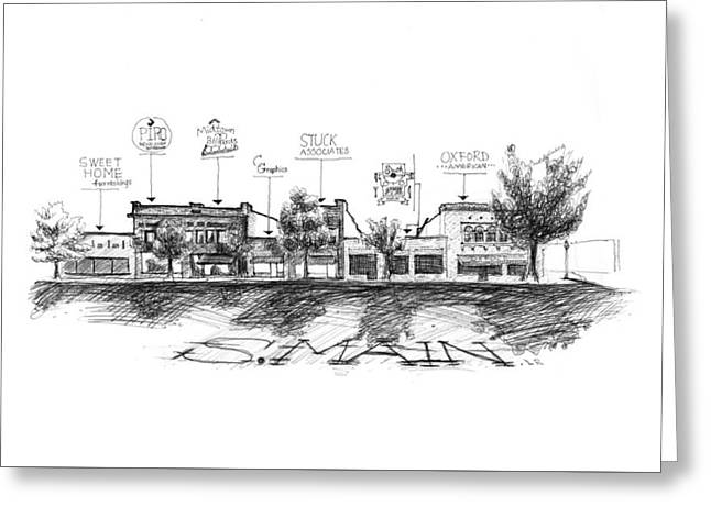 Little Rock South Main Street Greeting Card by Yang Luo-Branch