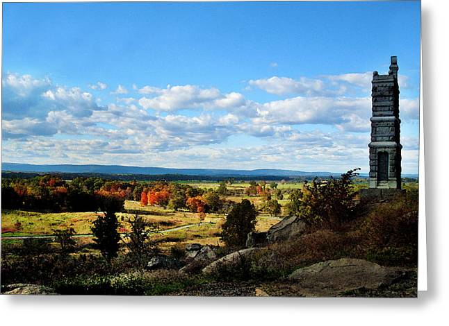 Best Sellers -  - Bayonet Greeting Cards - Little Round Top two of two Greeting Card by Lisa A Bello