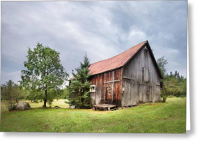 Greeting Card featuring the photograph Little Rustic Barn, Adirondacks by Gary Heller