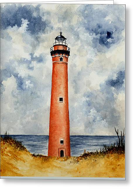 Little Sable Point Lighthouse Greeting Card by Michael Vigliotti