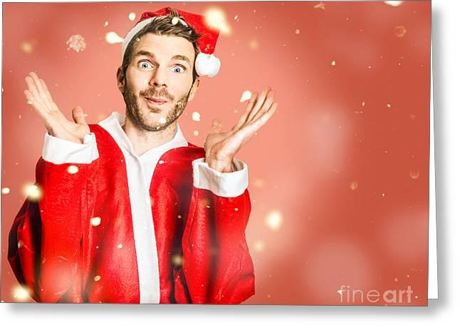 Little Santa Helper Spreading Christmas Cheer Greeting Card by Jorgo Photography - Wall Art Gallery