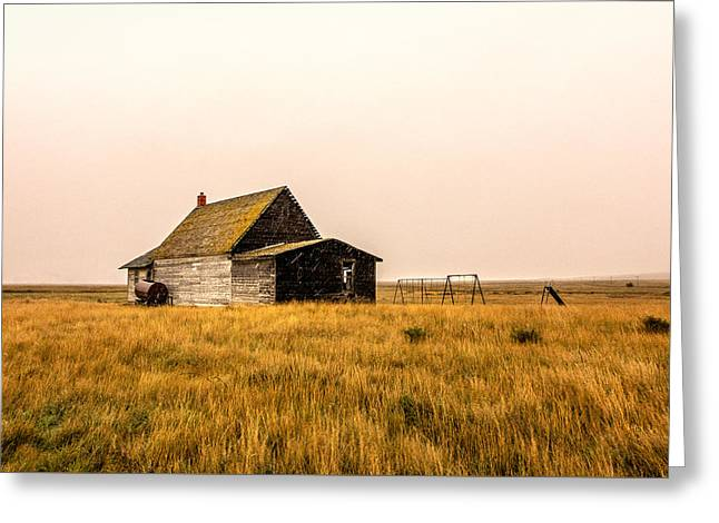 Little Schoolhouse On The Pairie Greeting Card by Todd Klassy