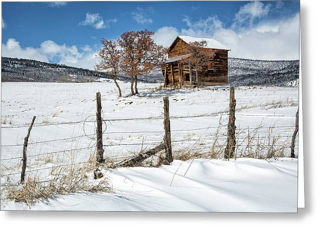 Little Shack In Winter Greeting Card