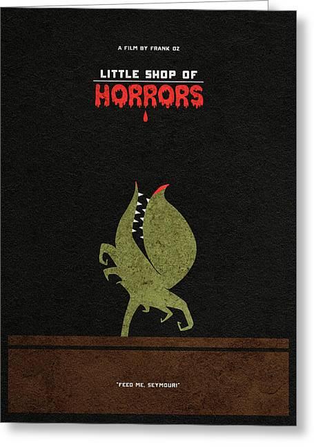 Little Shop Of Horror Minimalist Alternative Poster Greeting Card