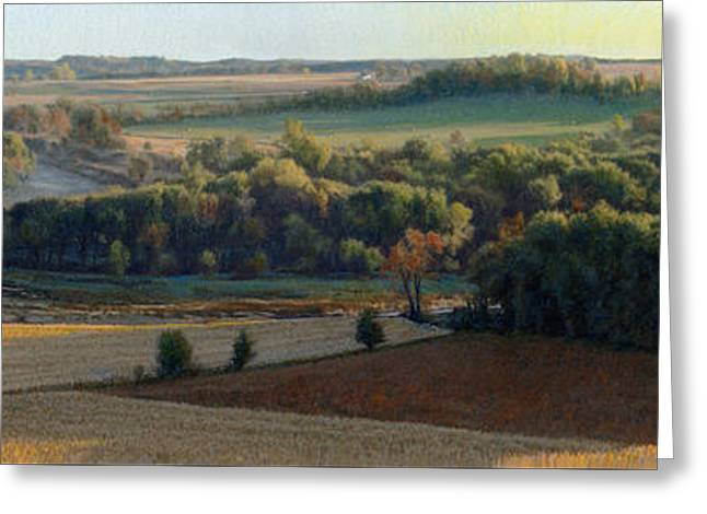 Little Sioux Autumn Sunrise Greeting Card by Bruce Morrison