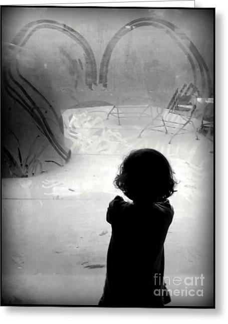 Little Sissy Deep In Thought Greeting Card by Diane M Dittus