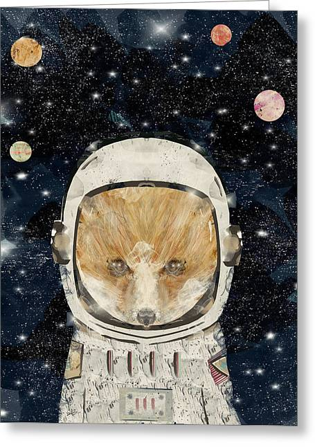 Little Space Fox Greeting Card