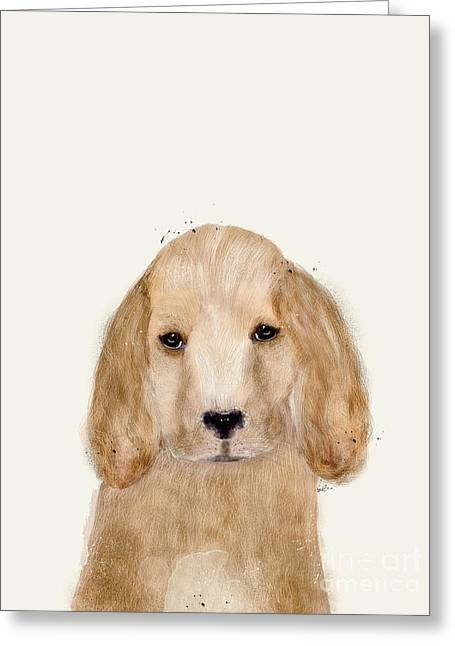 Greeting Card featuring the painting Little Spaniel by Bri B