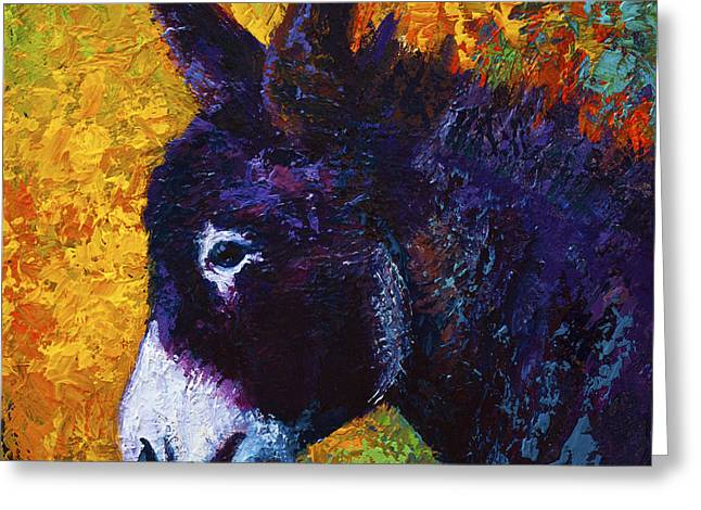 Donkey Greeting Cards - Little Sparky Greeting Card by Marion Rose