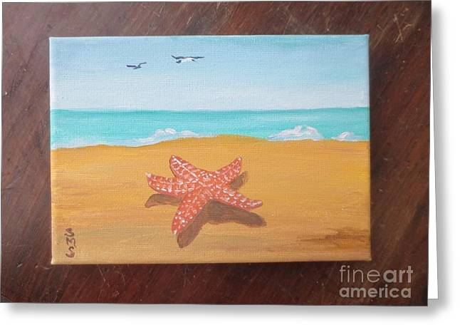 Little Star Fish Greeting Card by Stella Sherman