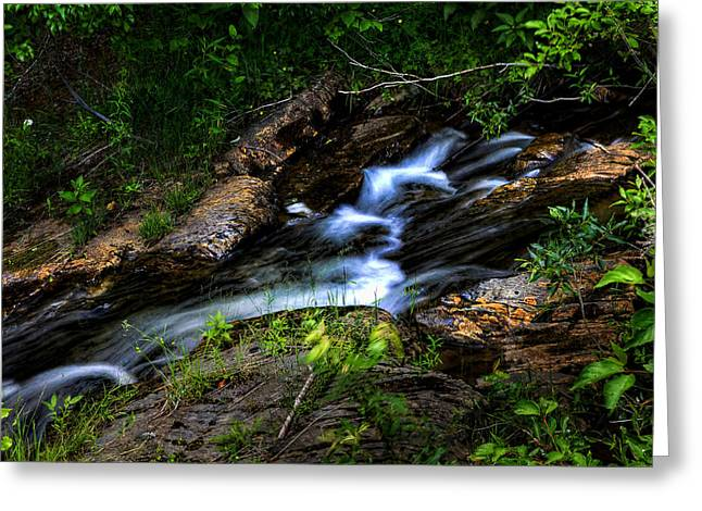 Greeting Card featuring the photograph Little Stream by Gary Smith