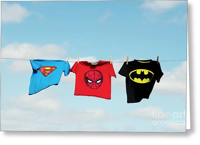 Little Superheroes Greeting Card