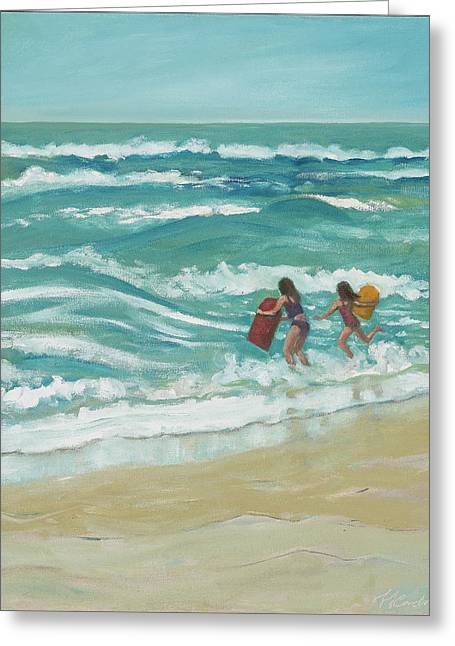 Little Surfers Greeting Card