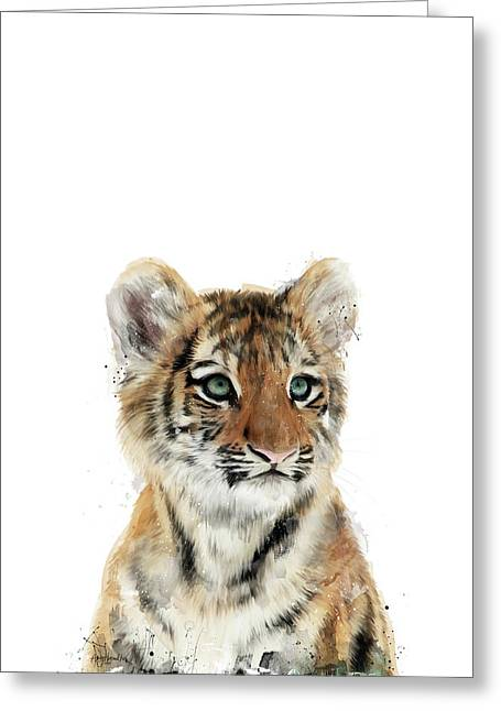 Little Tiger Greeting Card by Amy Hamilton