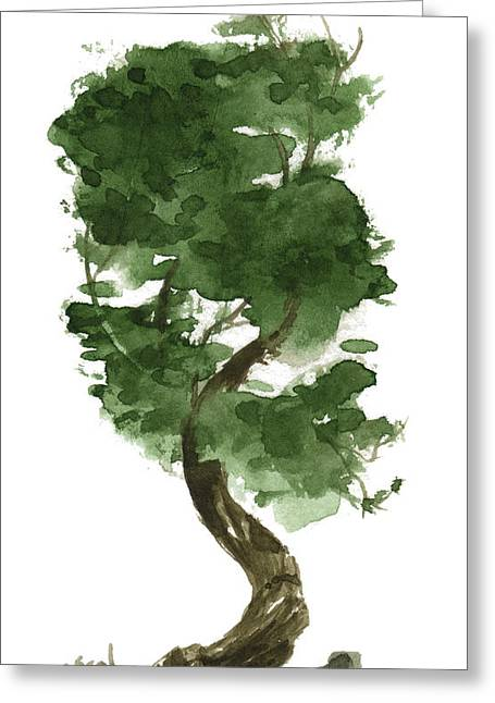 Little Tree 128 Greeting Card by Sean Seal