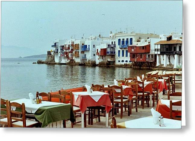 Little Venice On Mykonos Greeting Card