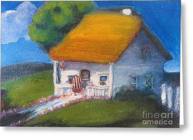 Little Village Cottage Greeting Card
