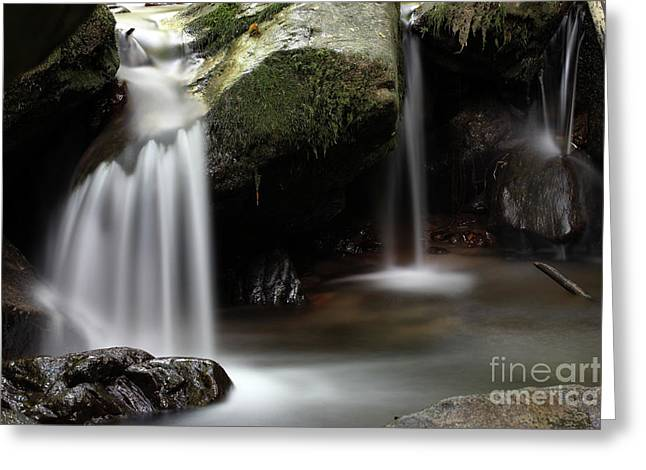 Little Waterfall Greeting Card by Jana Behr