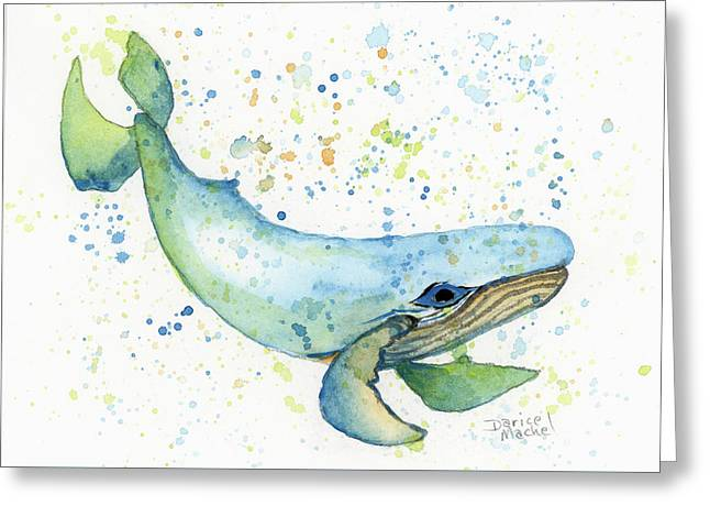 Greeting Card featuring the painting Little Whale by Darice Machel McGuire