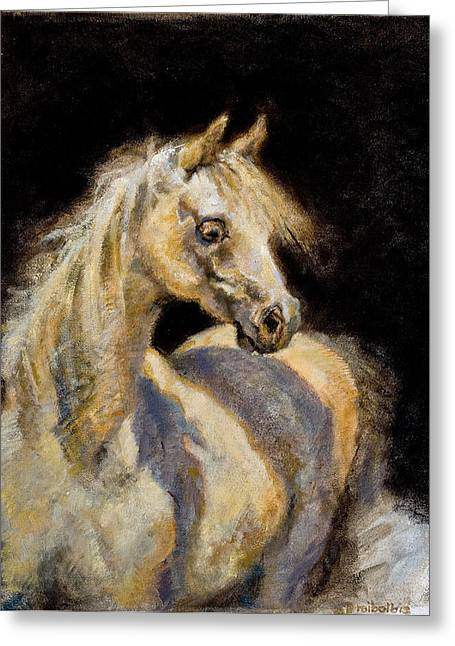 Little White Mare Greeting Card