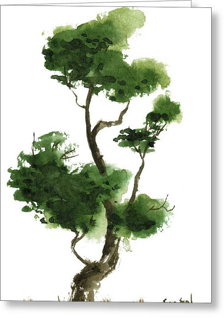 Little Zen Tree 145 Greeting Card